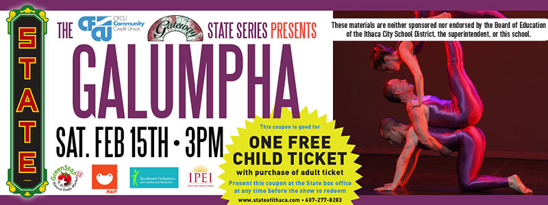 Galumpha Returns to The State Theatre of Ithaca with Gravity